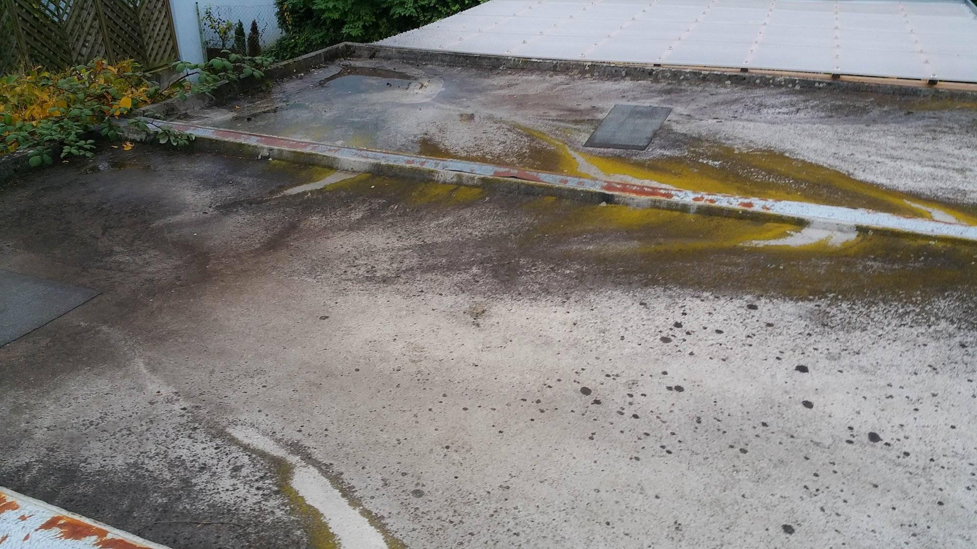 Garagendachreinigung, Flachdachreinigung & Carportreinigung